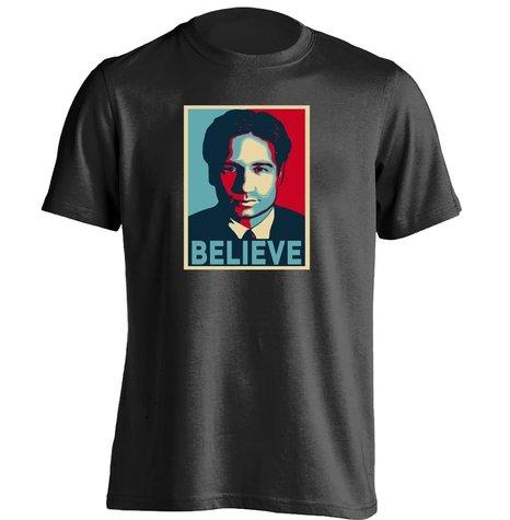 US $26 6 |Believe Pop Art Poster David Duchovny Fox Mulder X Archive Unisex  Cool T Shirt on Aliexpress com | Alibaba Group
