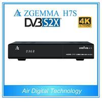 2 adet/grup 4 K UHD Zgemma H7S 2xDVB-S2X + DVB-T2/C HEVC H.265 4 K uydu alıcısı Linux Enigma 2 IPTV KUTUSU