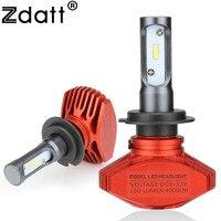 Zdatt Headlight H7 Led Bulb 80W 8000Lm Car Light 12V Fog Lamp Automobiles 6000K Super Bright