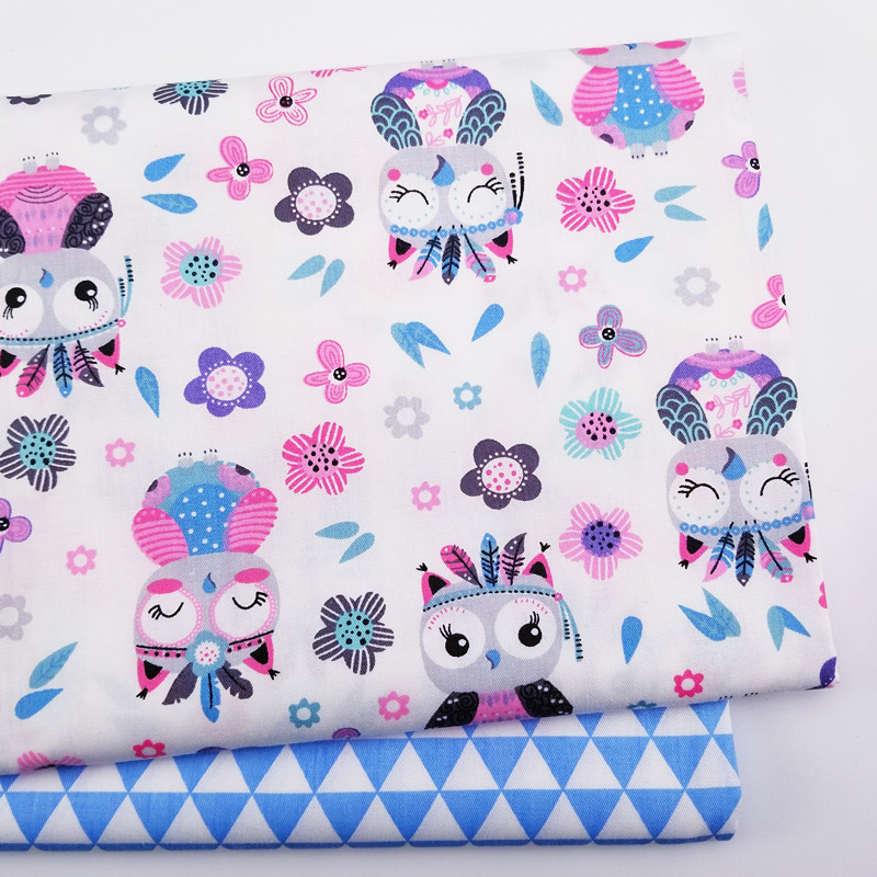 100% cotton twill fabric printed quilting cloth DIY sewing baby & child breathable