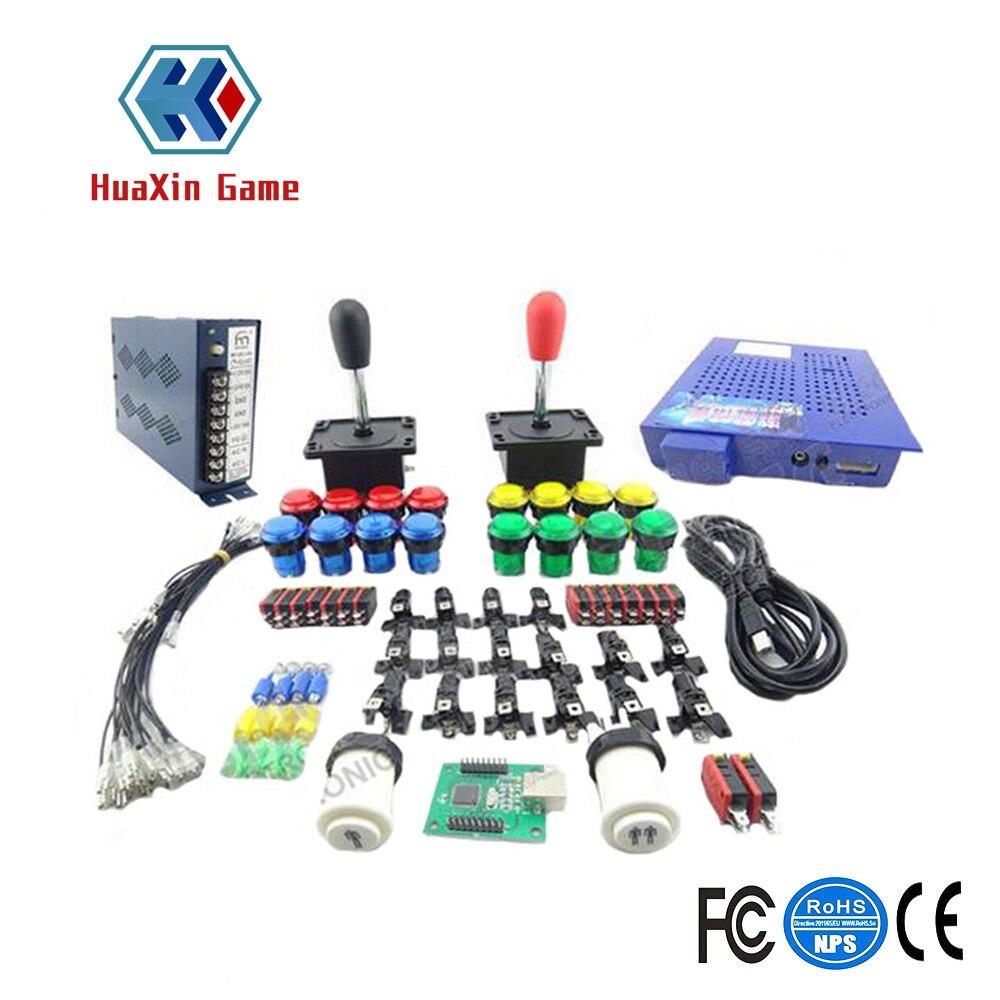 Kit Arcade bricolage accessoires 412 en 1 Jamma plateau de jeu 16A alimentation 16 X bouton 2 X Joystick pour Arcade MAME JAMMA jeux bricolage