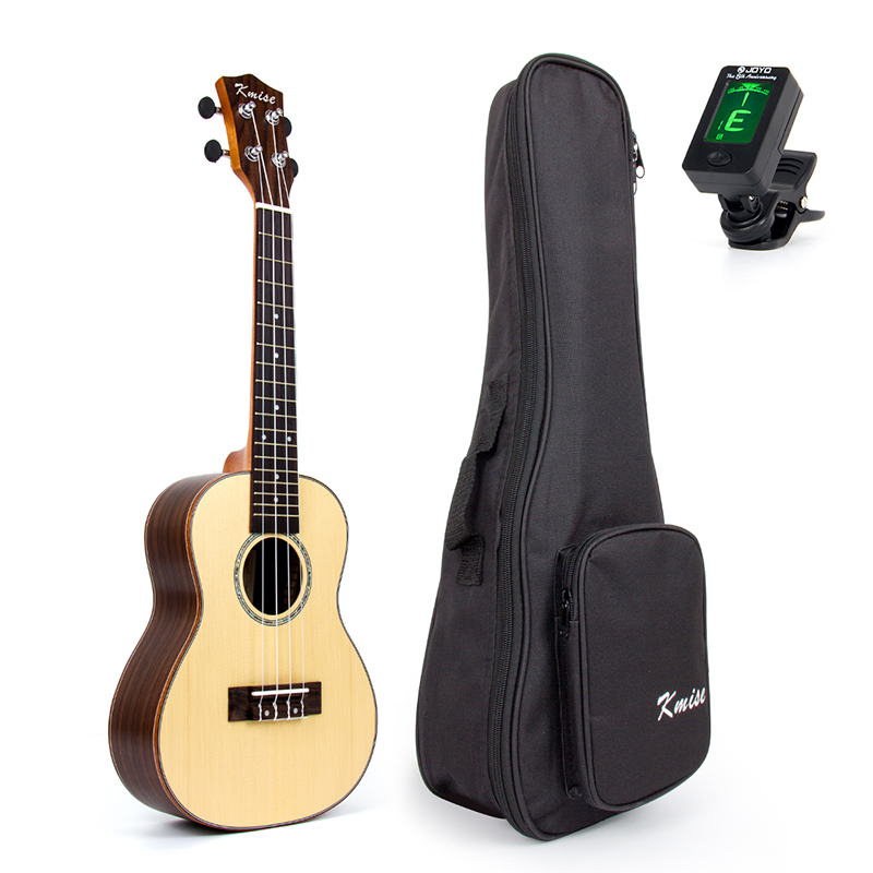 Kmise Concert Ukulele Uke Acoustic Hawaii Guitar with 23 Inch Spruce Rosewood acouway 21 inch soprano 23 inch concert electric ukulele uke 4 string hawaii guitar musical instrument with built in eq pickup