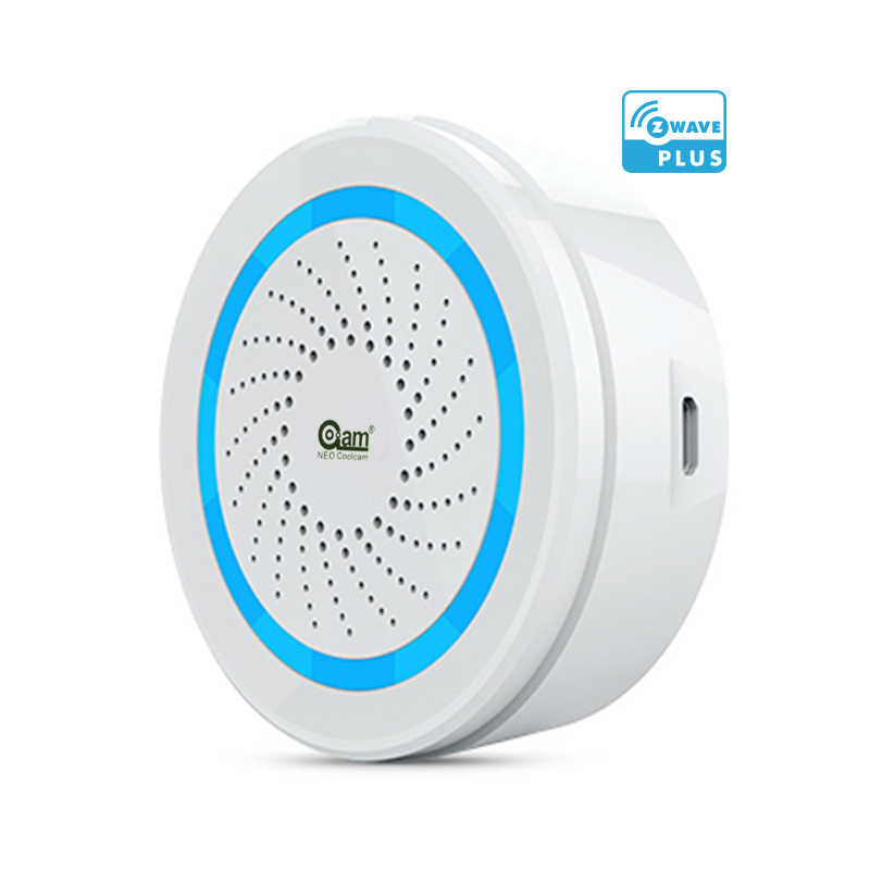 EU Version Zwave Alarm Siren Battery-Powered Also Can Be Charged with USB Siren Alarm Sensor For Z Wave Home Automation