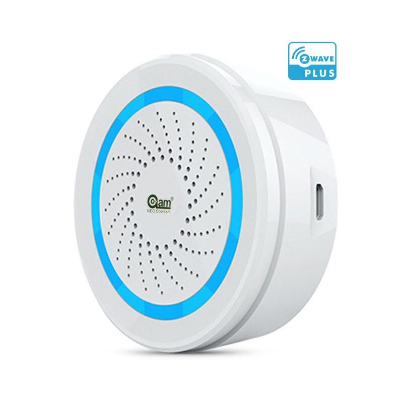 L'UE Version Zwave Sirène D'alarme Batterie-Alimenté Peut Également Être chargé USB Sirène D'alarme Capteur Pour Z Vague Domotique