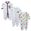3pcs/lot 2016 Baby Rompers Cotton Long Sleeve Newborn Babies Infantial Baby Girls Boy Clothes Jumpsuit Baby Clothing