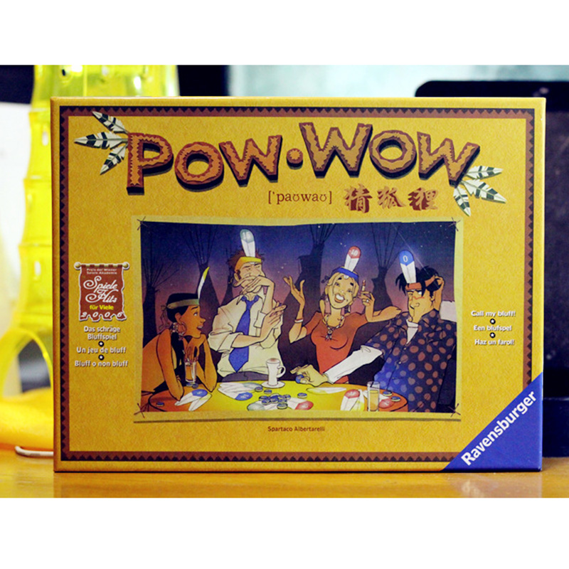 POW WOW Board Game Funny Cards Game For Family Children With Parents Easy Play
