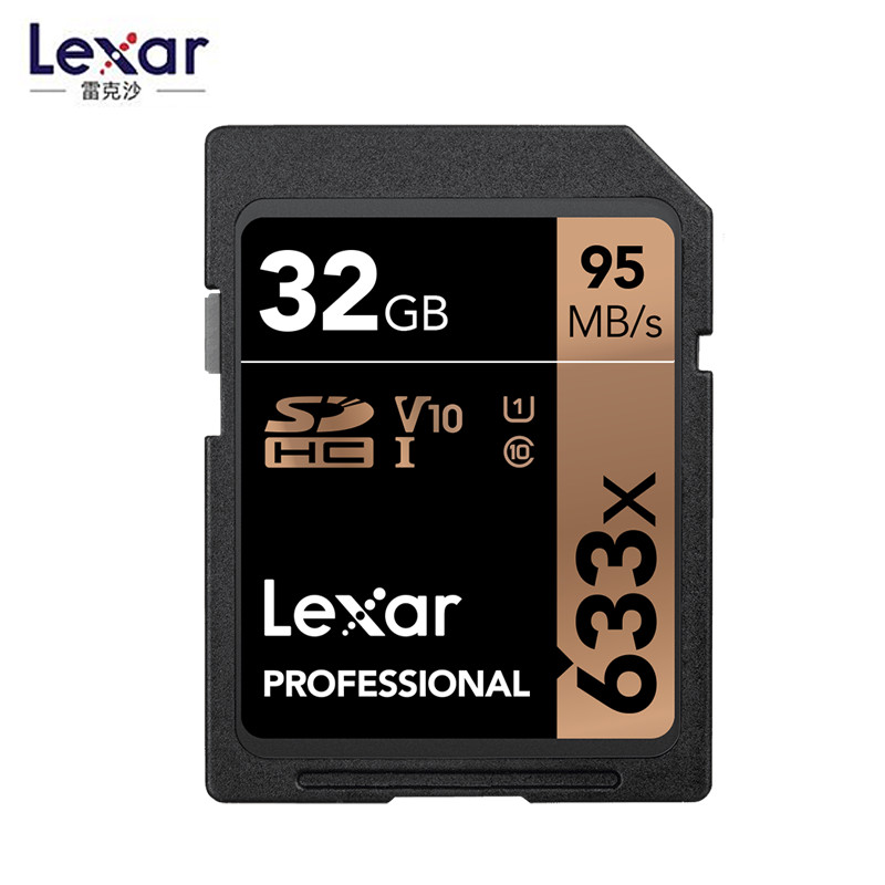 Image 3 - Promotion!!! Lexar 32GB U1 64GB 128GB 256GB U3 SD SDHC Card Class 10 95M/s 633x SDXC Memory Card For 3D 4K video Camera-in Memory Cards from Computer & Office