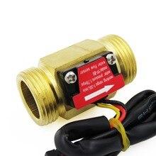 2 шт Холла поток воды Сенсор счетчик индикатор расходомер G3/4 DN20 Мужской латунь резьба 1-30L/мин 50 мм