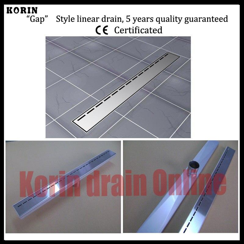 "1200mm ""Gap"" Style Stainless Steel 304 Linear Shower Drain, Vertical Shower Drain, Floor Waste, Long floor drain, Shower channel"