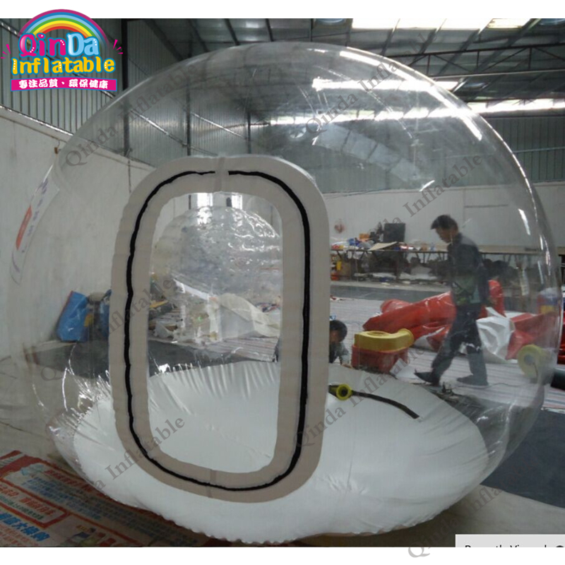 3m diameter inflatable trade show bubble tent,free air blower Inflatable clear dome room