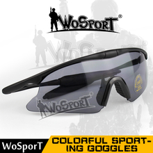 WoSporT Men Women Tactical Military Hunting Airsoft Glasses Outdoor Sport UV400 Protection Goggle Cycling Shooting Sunglasses