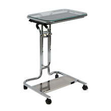 Studio Designs Laptop Cart with Mouse Pad  – Chrome/Clear Glass