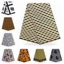 Macio de alta qualidade impressões africanas tecido verdadeira cera pagne verdadeira cera estilo nigeriano 6 metros 100% algodão ancara cera