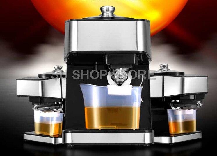 Machine de presse à huile d'acier inoxydable presseur d'huile automatique électrique extracteur d'huile de graine dispositif de pressage d'huile froide chaude 220 V
