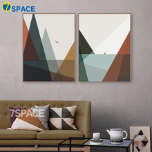 hot deal buy 7-space nordic wall art canvas geometric patterns painting decoration posters divers print on canvas painting bedroom no frame
