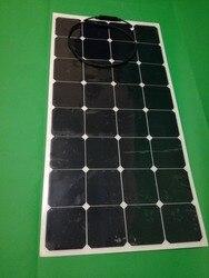 Wysoki współczynnik konwersji wydajność 18 V 100 W panel słoneczny monokrystaliczny pół elastyczny moduł słoneczny uniwersalny dla łodzi RV