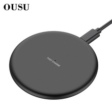 OUSU QI Wireless Charger 10W For iphone xs max x xr 8 plus Wireless Charging 5W Induction Charger For samsung S9 Plus S8 Note8 9 все цены