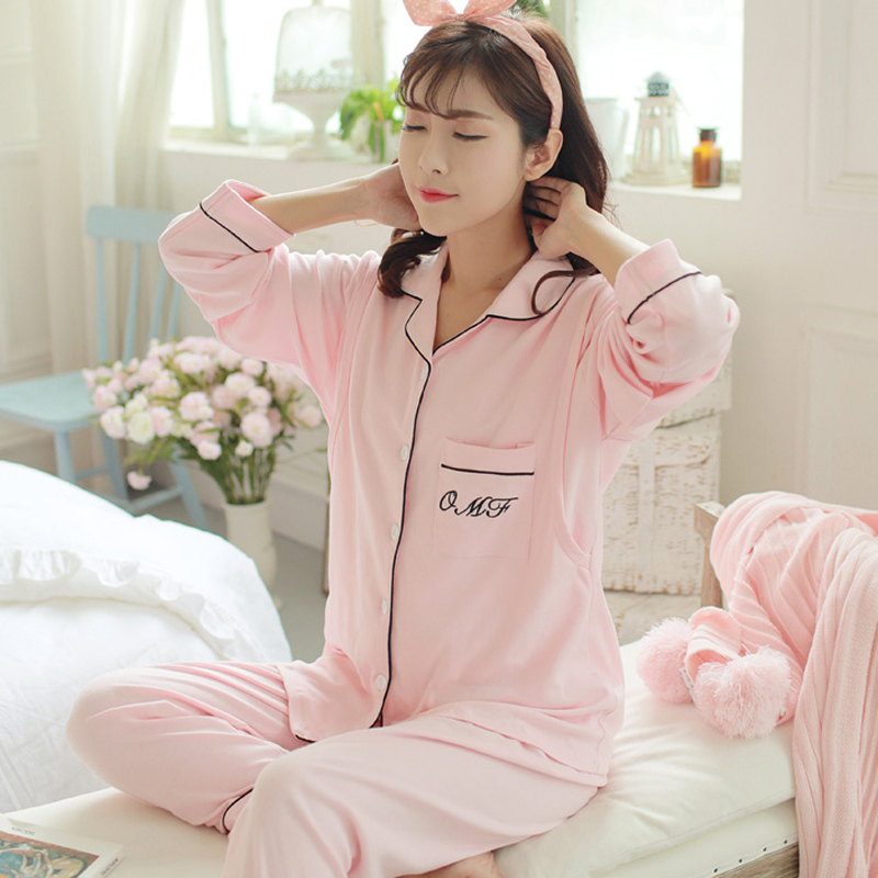 Maggies Walker Mom Lactation Pajamas Clothes Autumn Cotton Pregnant Women Pajamas Postpartum Nursing Breast-feeding Nightwear