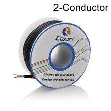 2C-Black-10M-UL 2547 28 AWG многожильный контрольный кабель медный, экранированный аудионаушники с кабелем сигнальная линия