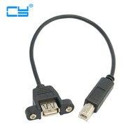 20 см USB 2.0 гнездо Панель крепление Тип к Стандартный B Мужской Сканер Принтер жесткий диск кабель 200 pcies/много DHL, EMS