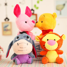 Disney Plush  Winnie the Pooh Mickey Mouse Minnie Cute Stuffed Animals Plush Doll Toy Lilo and Stitch Piglet toys Kid Gift pooh and piglet s colors