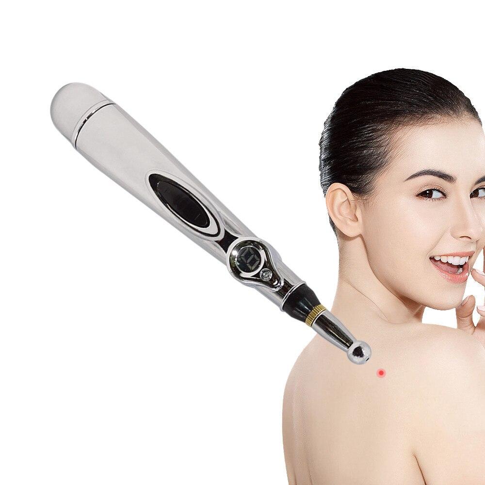 Dropshipping Elektrische Akupunktur Stift Schmerzen Relief Therapie Stifte Meridian Energie Stift für Kopf Massageador Gesichts Massager