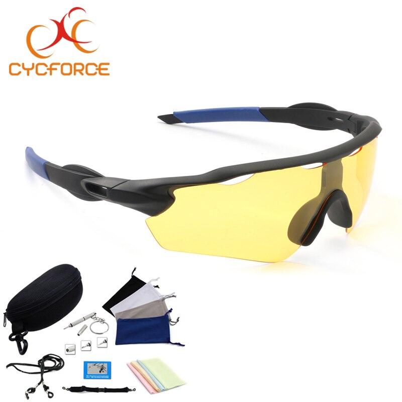 CYCFORCE Polarized ciclismo gafas bicicleta deportes al aire libre gafas de sol para hombres mujeres gafas de conducción nocturna pesca