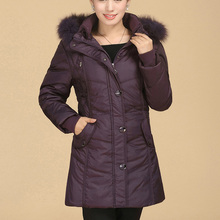 Nice Casual Women's Winter White Goose Down Jacket Slim Fit Thick Fur Collar Long Women Jackets and Coats Plus Size 6XL CP1135