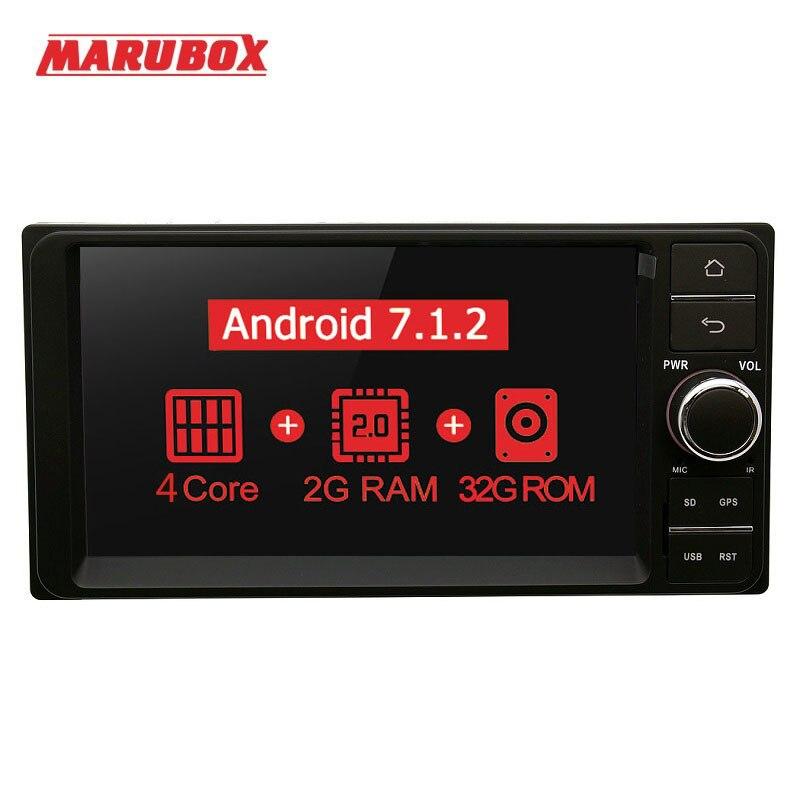 Marubox 7A701MT3 Voiture Multimédia Lecteur Universel Pour Toyota Android 7.1 Voiture Auto Radio Quad Core 1024*600 HD 7 GPS Stéréo Audio