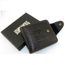 Leather One Piece Anime Wallet 7 card slots
