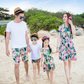 Family Matching Outfit Family Clothing Mother and Daughter Naked Shoulder Dress Father and Son Clothes Beach Clothing GS15