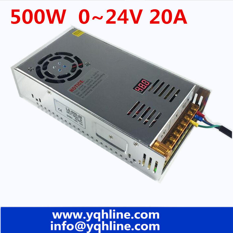 все цены на 500W switching power supply 20A 0-24V AC To DC 24V SMPS For Electronics Led Strip Display LS-500-24 Digital voltage adjustable онлайн