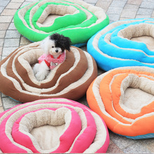 2016 New Cute Warm Washable Pet Dog Cat Colorful Mattress Bed Mat House for Dog Accessories Dog Brand Bed Pink Blue Green S M L