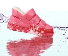 Платформы плоские водонепроницаемые ботинки снег сапоги теплые дома зима мужчин плюс