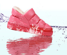 2016 Plus Größe 35-44 Frauen Winter Schneeschuhe Warme Flache und Wasserdicht Stiefeletten Plattform Hause Schuhe