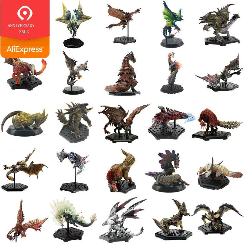 Japão Anime Monster Hunter Mundo XX Modelos Quente Dragão Figura de Ação Decoração Monstros de Brinquedo Figura PVC Modelo Coleção