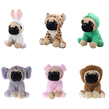 1PC New Large Plush Toys 10 Pug Dog In 6 Costumes Cuddly Soft Toy Girl Kids Gift Adults Stuffed