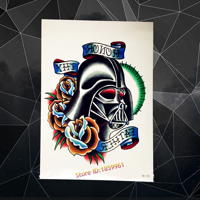 US $0 84 5% OFF|Body Art Painting Men Metallic Helmet Designs Temporary  Tattoo Stickers Fake Flash Black Tattoo stickers AHB120 Chest Legs Tatoo-in