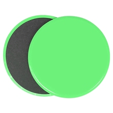 2Pcs Fitness Gym Gliding Discs Slider Exercise Sliding Plate For Yoga Abdominal Core Training Equipment Green  #8