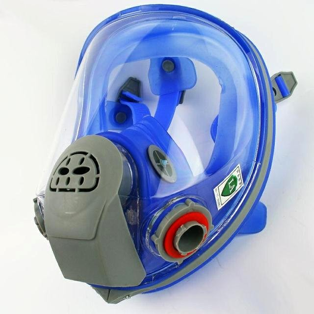 Event & Party For 6800 Silicone Gas Mask Full Facepiece Respirator Painting Blue Full Face Spraying Mask Anti Dust Festive & Party Supplies