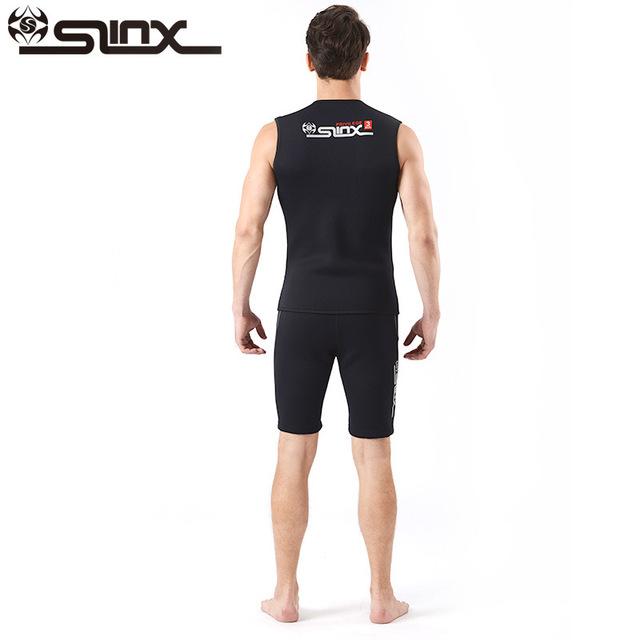 SLINX Outdoor Unisex Wetsuits 3MM Neoprene Sleeveless Wetsuit Vest for Diving Surf Windsurf Kitesurfing