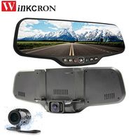 Car dvr Rearview mirror Camera Best DVR camera 4.3 TFT Allwinner A20 Dual lens Full HD 1080P 170 Degree 2017 dvr video recorder