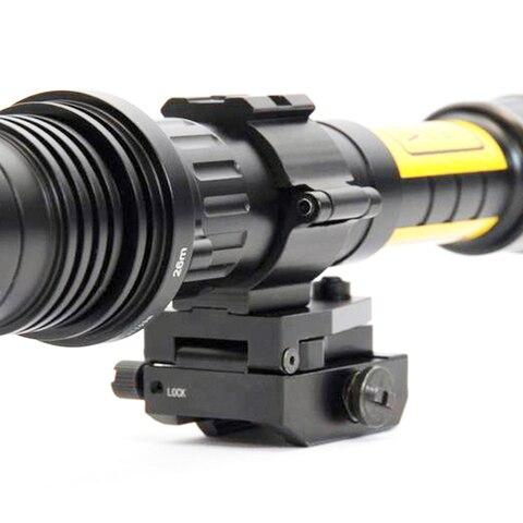 lanterna montagem 254mm 30mm rifle escopo
