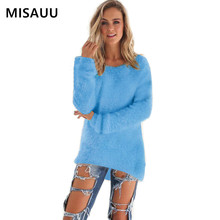 MISAUU 3XL Sweater Women Fashion 2018 Autumn Winter Tops Knitted Pullover Long Sleeve Jumper Pull Femme Clothing Plus Size