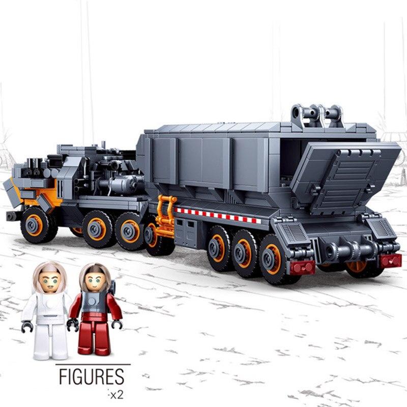 Sluban 0787 errant la terre Transport camion transporteur véhicule voiture Figure modèle bricolage bloc de construction Compatible avec la technologie jouet - 3