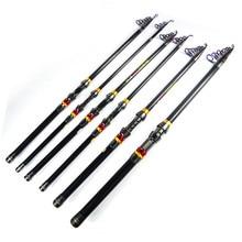 LEO Exclusive 99% Long Casting Carbon Fiber Fishing Rod Portable Folding Telescopic Fishing Rod for Sea Fishing 1.8M- 3.6M