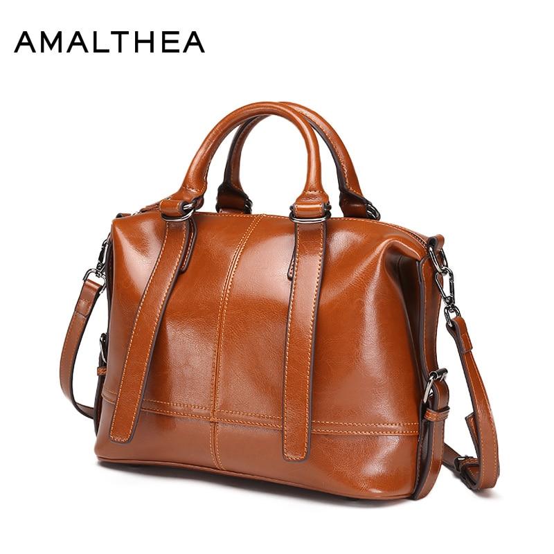 AMALTHEA Brand Handbags Hand Bag Woman Handbag Split Leather Bags Women Casual Tote Bag Crossbody Bags For Women 2017 AMAS033