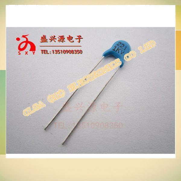 High p ceramics capacitors 1 kv221 220 pf 221 j
