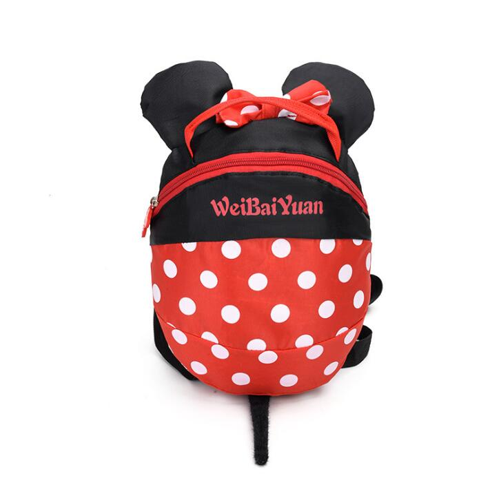 New Cartoon Toddler Anti Lost Backpack Cartoon Antilost Wrist Link Children Schoolbag Walking Leashes Bag