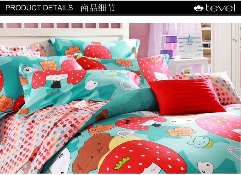 . Strawberry shortcake bedding set Cartoon Beding Set Cover 100